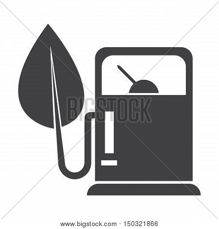 refuelling black simple icon on white background for web design