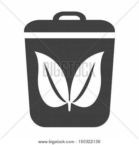 container black simple icon on white background for web design
