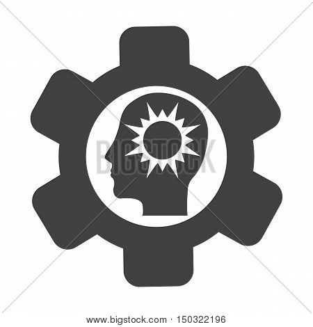 cogwheel black simple icon on white background for web design