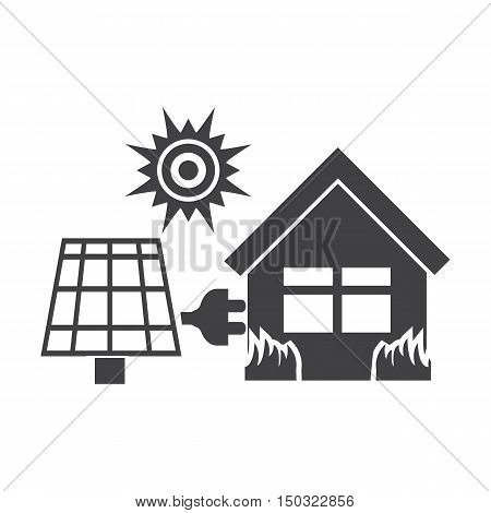 house black simple icon on white background for web design