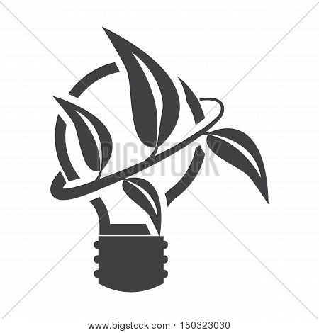lightbulb black simple icon on white background for web design