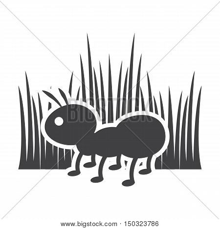 ant black simple icon on white background for web design