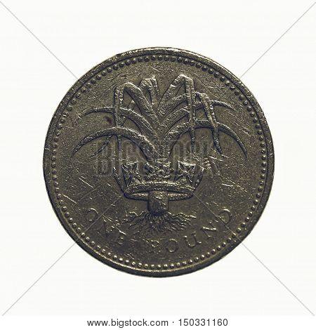 Vintage One Pound Coin