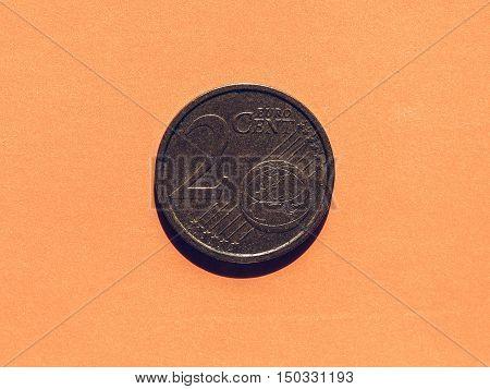 Vintage Euro Cent Coins