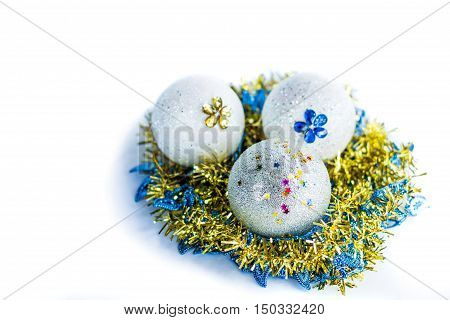 New Year and Christmass ornamenal ball decoration