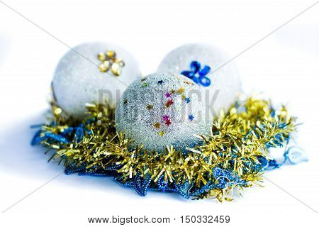 New Year and Christmass ball ornamenal decoration