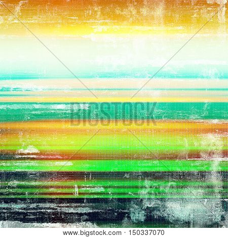 Glamour vintage frame, decorative grunge background. Aged texture with different color patterns: yellow (beige); green; blue; red (orange); black; white