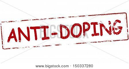 Rubber stamp with text anti doping inside vector illustration
