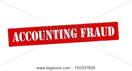 Rubber stamp with text accounting fraud inside vector illustration