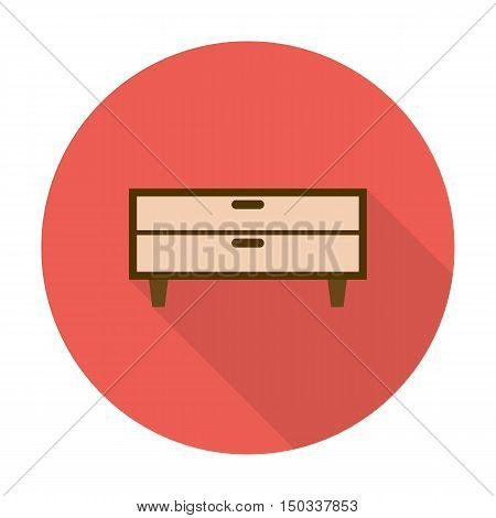 commode flat icon with long shadow for web design