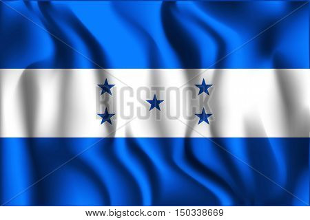 Flag Of Honduras. Rectangular Shaped Icon