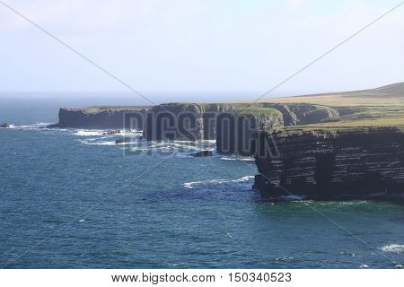 Landscape view of Loop Head cliffs. County Clare, Ireland