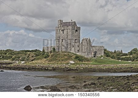 Dunguaire castle. County Galway, Ireland - HDR