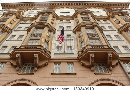 Facade of the US Consulate in Moscow