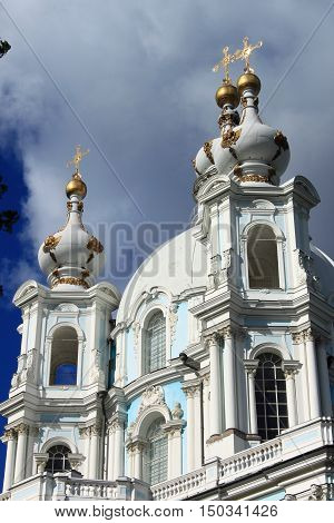 The Smolny Cathedral in St. Petersburg, Russia