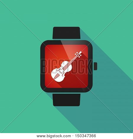 Long Shadow Smart Watch With  A Violin