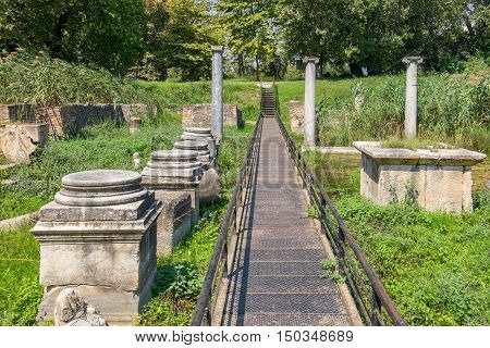 Sanctuary of Isis at the Archaeological Park of Dion. Pieria Macedonia Greece