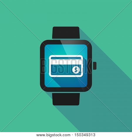 Long Shadow Smart Watch With  A Credit Card