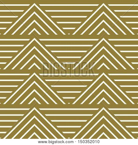 Vector abstract seamless composition best for use as wrapping paper symmetric ornate background created with simple geometric shapes triangles.