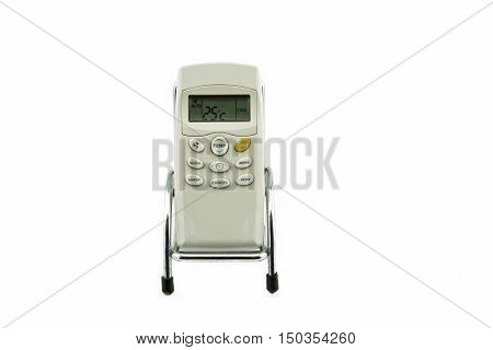 Air condition remote controller on white background