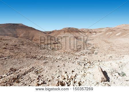 Rocky Hills of the Negev Desert in Israel