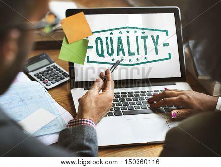 Business Quality Marketing Assurance Concept