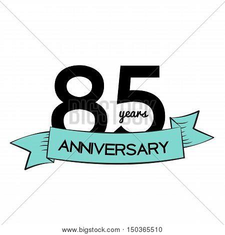 Template Logo 85 Years Anniversary Vector Illustration EPS10