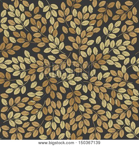 Seamless patten with stylish autumn leaves can be used for   linen, tile, design fabric and more creative designs.
