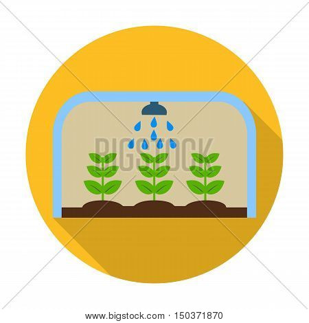 greenhouse flat icon with long shadow for web design