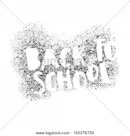Back to school poster design. Stencil letters. Abstract logo for designs