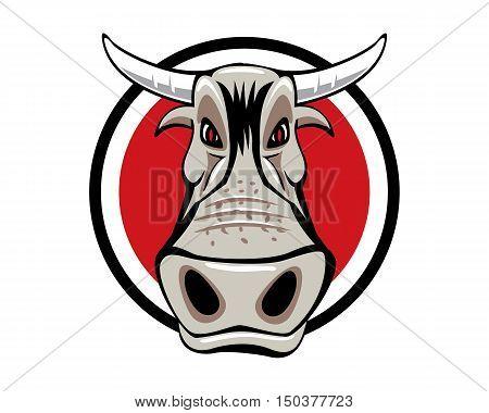 Bull Head Farm Mascot Taurus Symbol Logo