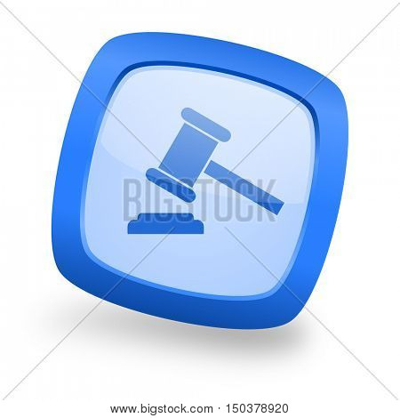 auction blue glossy web design icon