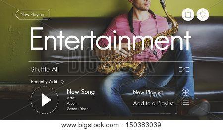Professional Instrumentalist Entertainment Hobby Concept