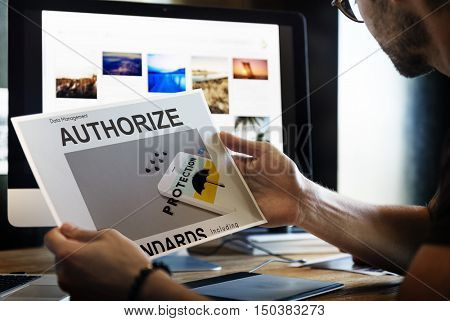 Technology Authorized Personnel Thinking Concept