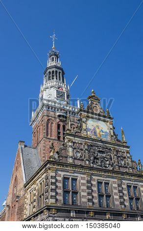 Facade And Tower Of The Weigh House In Alkmaar