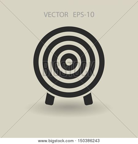 Flat icon of aim