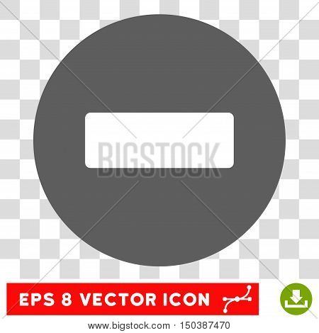 Minus round icon. Vector EPS illustration style is flat iconic bicolor symbol, white and silver colors, transparent background.
