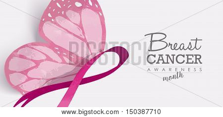 Breast Cancer Butterfly For Social Media Header