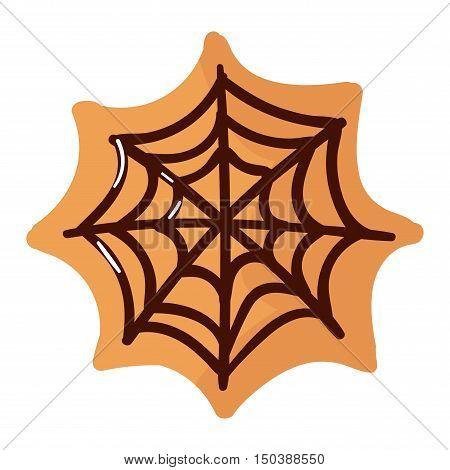 Halloween cake symbol vector autumn fear creepy traditional sign. Halloween horror design icon. Celebration october halloween symbol.