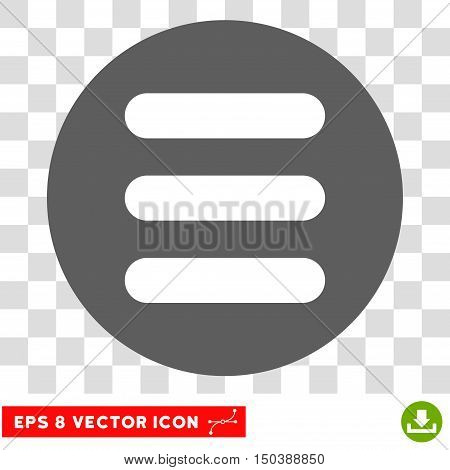 Stack round icon. Vector EPS illustration style is flat iconic bicolor symbol, white and silver colors, transparent background.