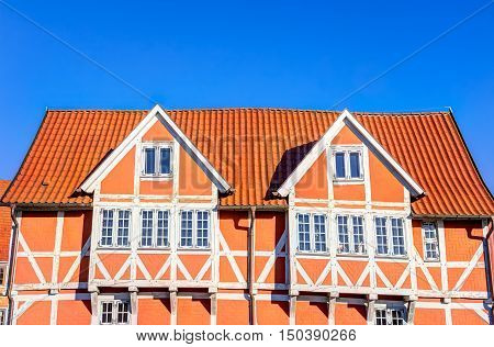 Halt-timbered House In Wismar