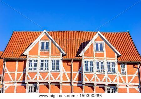 Halt-timbered House In Wismar