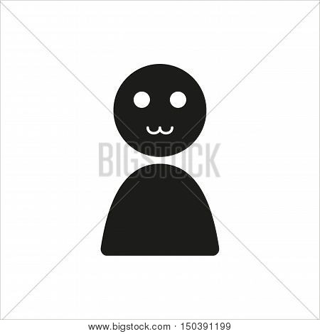 Emotion anime enthusiasm icon in simple black design Created For Mobile Web Decor Print Products Applications. Black icon isolated. Vector illustration.
