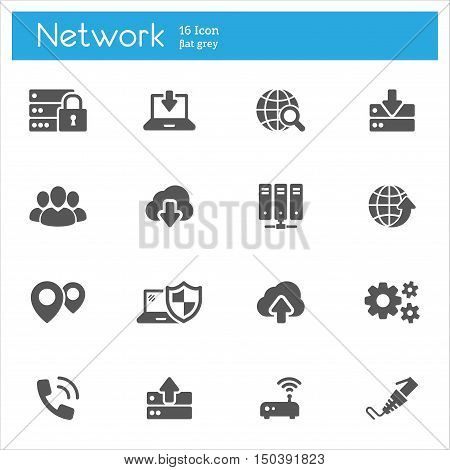 Modern flat icons set cloud computing data transmission of Internet technology. High quality collections. Stroke vector logo concept web graphics