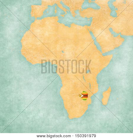 Map Of Africa - Zimbabwe