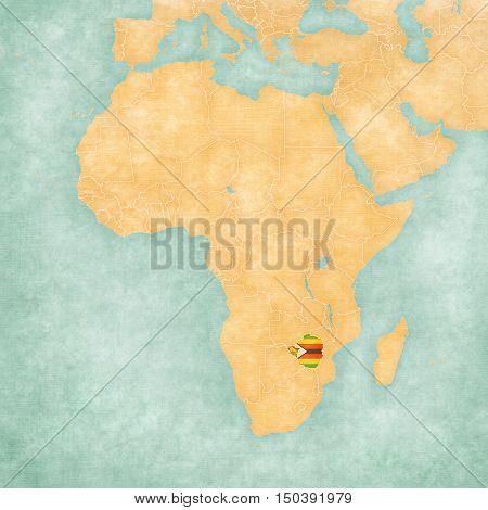 Map Of Africa - Zimbabwe