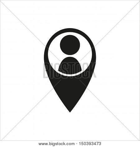 location people icon in simple black design Created For Mobile Web Decor Print Products Applications. Black icon isolated. Vector illustration.