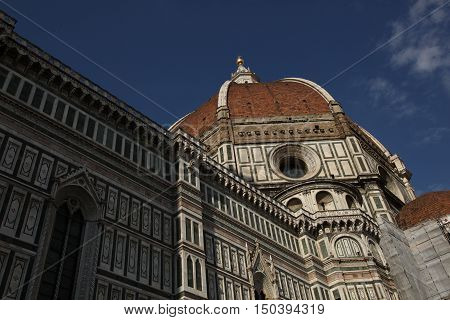 Cathedral of Santa Maria del Fiore, Florence, Italy. - The high walls of the Gothic cathedral aspire to touch the ceiling of heaven. How many untold tales are  currently stored in the walls.