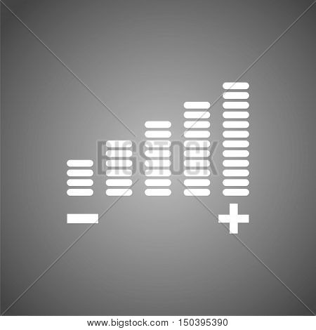 Volume Icon, Volume adjustment vector icon on gray background
