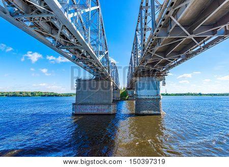 Railway bridge over the river big long